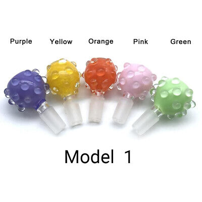 14mm or 18mm Male Bubble Glass Slide Bowl Colors Bumps Texture Round Colorful 4
