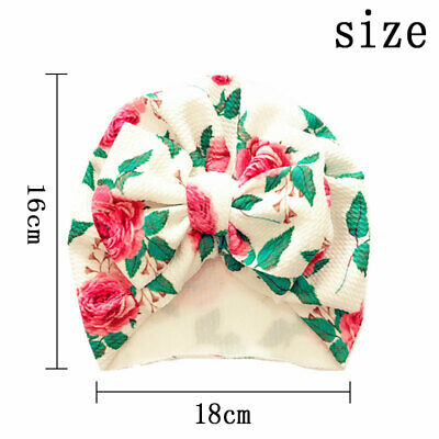 Newborn Baby Hat Head Wrap Flower Soft Bowknot Baby Turban Cap For Girl Toddler 2