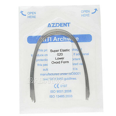 1 Kit Dental Orthodontic Super Elastic Niti Round Arch Wires All Type Ovoid Form 12