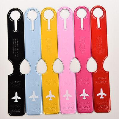 Colorido PU Travel Bag Trip equipaje maleta nombre titular etiqueta ID Tags 2