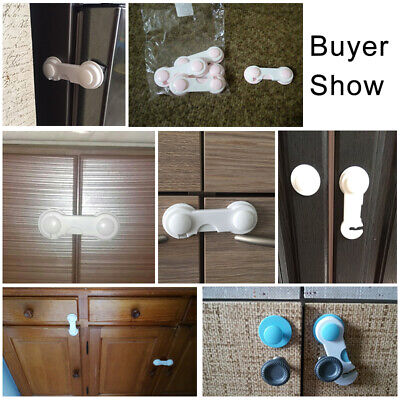 5x Baby Child Cupboard Cabinet Safety Locks Pet Proofing Door Drawer Fridge Kids 8