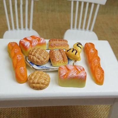 6pc Dolls House Miniature Kitchen Food Bread Toast Bakery Pastry Shop Decor 1:12 3