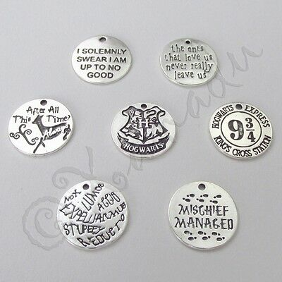 Harry Potter Sirius Black Quote Antiqued Silver Charms Cc2022 2 5