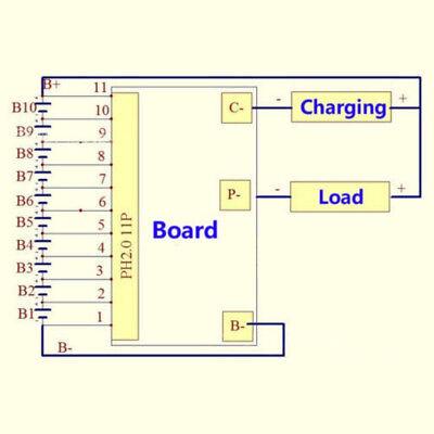 Li-Ion Lipolymer Batterie Schutz Brett Bms Der Leiter Platte 10S 36V 35A Fü M3V2