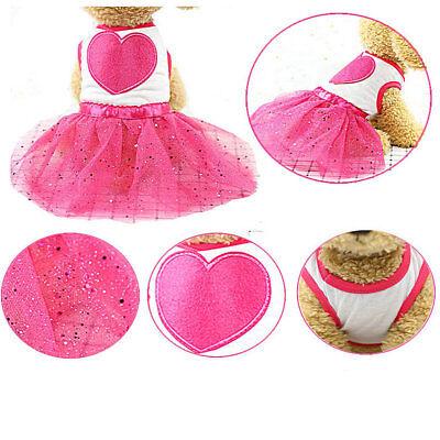 Pet Dog Small Medium Cats Clothes Princess Beauty Summer Dresses Skirts 4