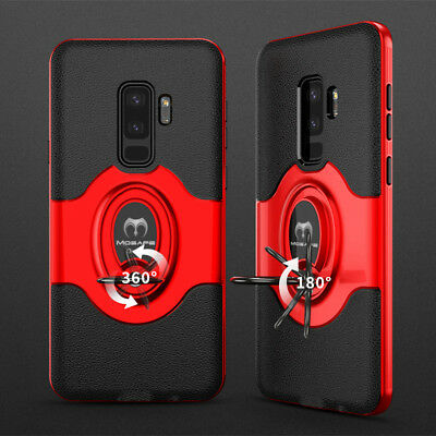 For Samsung Galaxy S9/S8/Plus/Note 9 8 Ring Holder Shockproof Armor Case Cover