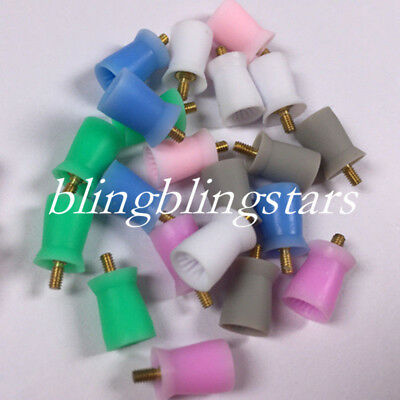 100 Pcs Dental Polishing Prophy Prophylaxis Cups Screw On Type Rubber Polisher 3