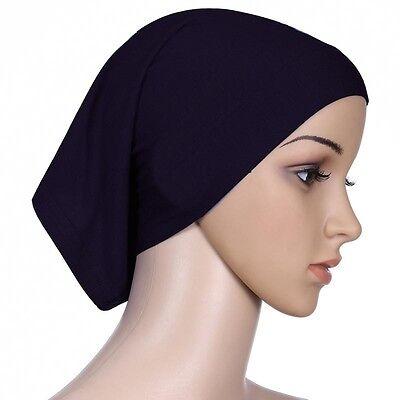 Muslim Women Hijab Under Scarf Inner Cap Bone Bonnet Neck Cover Cap Head Wrap 6