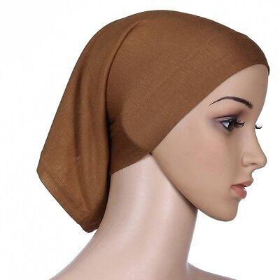 Muslim Women Hijab Under Scarf Inner Cap Bone Bonnet Neck Cover Cap Head Wrap 8