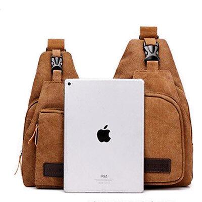 Men's Small Chest Sling Bag Travel Hiking Cross Body Messenger Shoulder Backpack 4