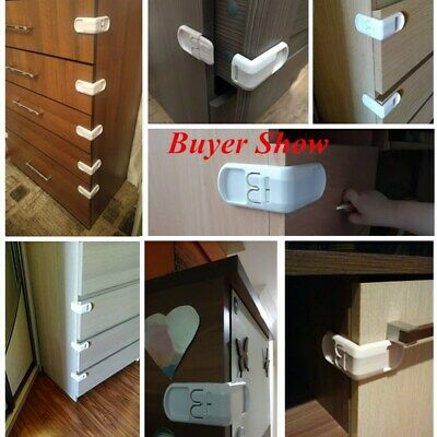 2/5Pcs Child Infant Baby Kids Drawer Door Cabinet Cupboard Protect Safety Locks 11