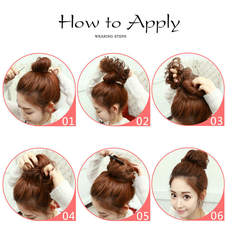 Large Thick Messy Bun Hair Scrunchie Updo Cover Curly Hair Extensions as Human 12