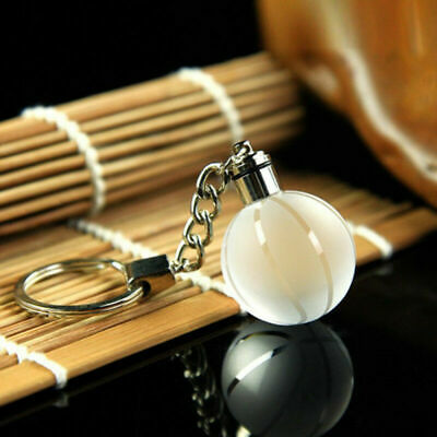 Crystal Ball 3D Engraved Key Chain Ring Keyring Keychain LED Glow Pendant Gift 6
