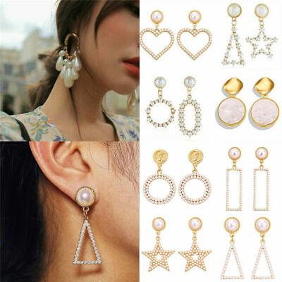 Fashion Women Statement Boho Geometric Big Pendant Ear Stud Dangle Drop Earrings 4