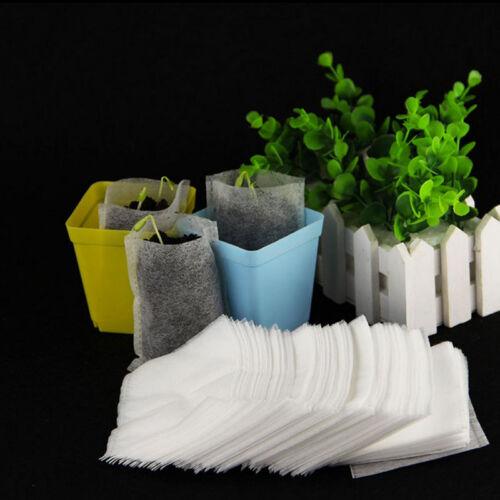 100stk//Set Pflanze-Faser-Kindertopf Sämling-Hebe-Tasche-Umweltschutz Pouch ss
