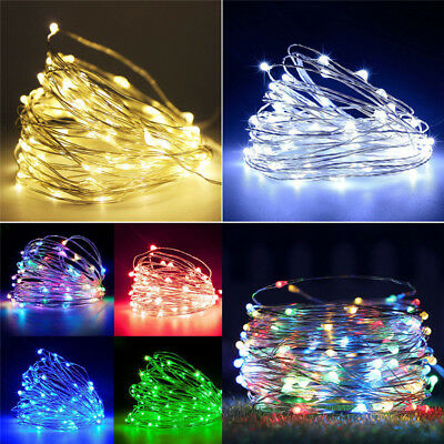 20/30/100 LED Battery Micro Rice Wire Copper Fairy String Lights Party white/rgb 3