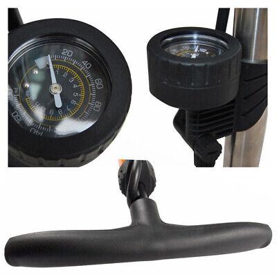 AU High Pressure Bicycle Air Pump Bike Alloy Floor Dual Valve Gauge UP 160 PSI 7