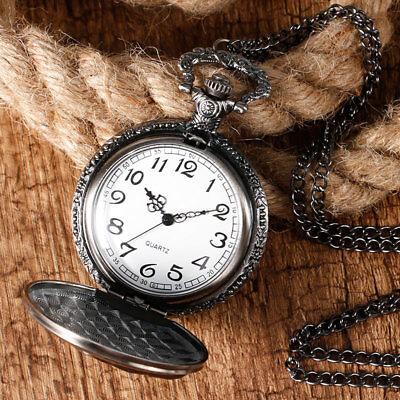 Game of Thrones Stark House Crest Wolf Cool Quartz Pocket Watch Necklace Chain 5