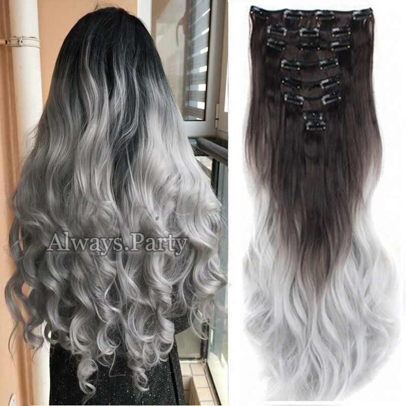 100 Real Natural 8 Pieces Clip In Ins As Human Hair Extensions Full