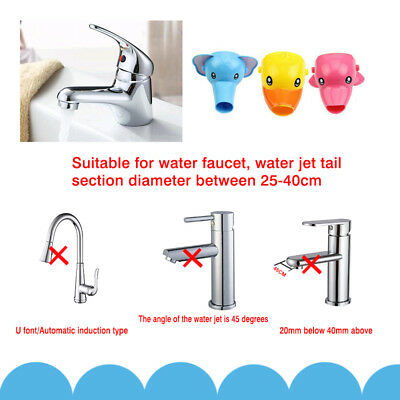 Animals Faucet Extender Kids Happy Fun Tubs Baby Hand Washing Bathroom Sink New 7