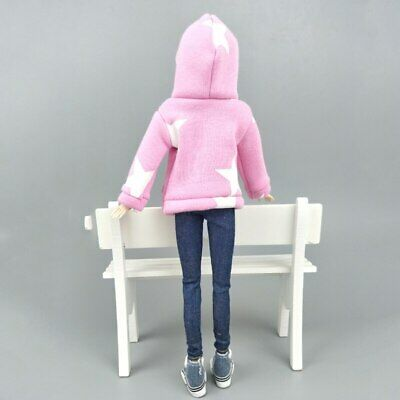 """Pink Star Sweatshirt Coat For 11.5"""" 1/6 Doll Clothes Outfits Pants Canvas Shoes 5"""