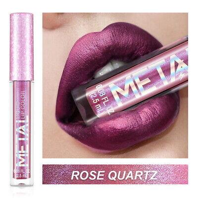 Long Lasting Lip Liquid Matte Metallic Glitter Lipstick Lip Gloss Makeup 2019 9