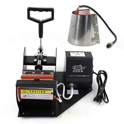 2in1 Station Mug Cup Heat Press Machine Sublimation For 11OZ 12OZ 4