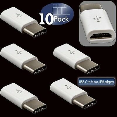 10x Micro USB to USB3.1 Type C Charger Adapter for Samsung Galaxy S8 A3 A5 A7 SY 2
