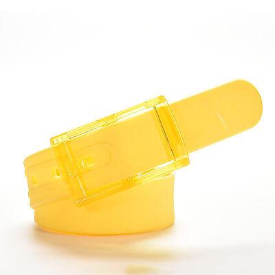 688a655949f4 1 sur 4Livraison gratuite Silicone Ceinture Caoutchouc Boucle Plastique Uni  Faux Cuir Style Ajustable9HK