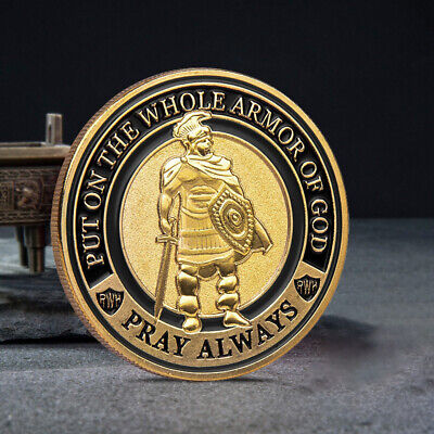 Put on The Whole Armor of God Commemorative Challenge Coin Collection Gift RF 2