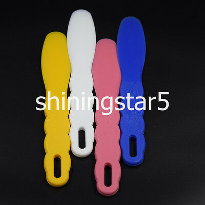 Dental Plastic Wax Alginate Metal Mixing Plaster Spatula Impression 4 Color Pick 2