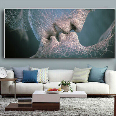 Abstract Wall Art Painting Love Kiss Poster Wall Pictures Print Home Decoration 4