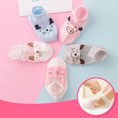 5 Pairs Baby Boy Girl Cartoon Cotton Ankles Socks Newborn Infant Toddler Soft 3