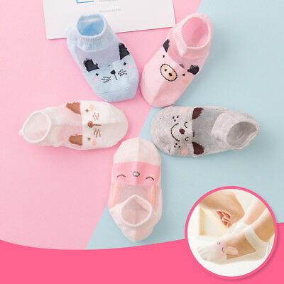 5 Pairs Baby Boy Girl Cartoon Cotton Socks NewBorn Infant Toddler Kids Soft Sock 6