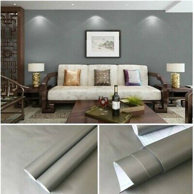 Waterproof Self Adhesive Wallpaper Peel And Stick Solid Color F