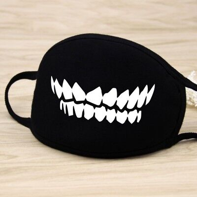 Adults Black Cute Anime Emoticon Mouth Muffle Anti Dust Korea Cotton face mask 11