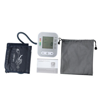 Digital Upper Arm Blood Pressure Monitor LCD Screen Heart Rate w/ Voice Talking 12