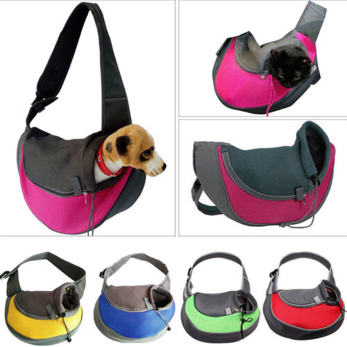 Pet Dog Cat Puppy Carrier Mesh Comfort Tote Shoulder Travel Bag Sling Backpack 2