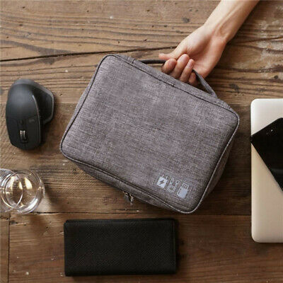 Electronics Travel Organizer USB  Cable Storage Bag Portable Case Accessories 11