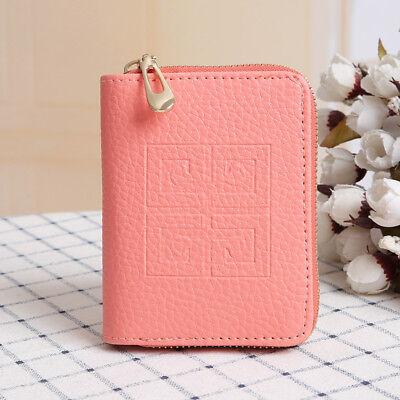 Women Lady Leather Bifold Wallet Zipper Clutch Card Holder Purse Mini Handbag 6