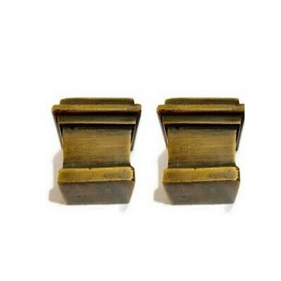 4 sabot square small solid Brass foot castors chair table old style 19 mm cup B 4