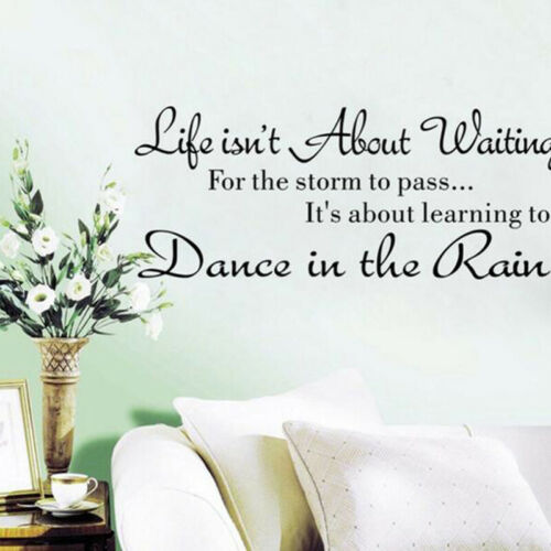 Life Isn/'t About Waiting for the Storm to Pass Wall Decal Vinyl Art Quote J10