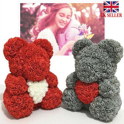 Lovely Rose Bear Teddy Bear Doll Foam Flowers Rose Girl Birthday Gift Box 3