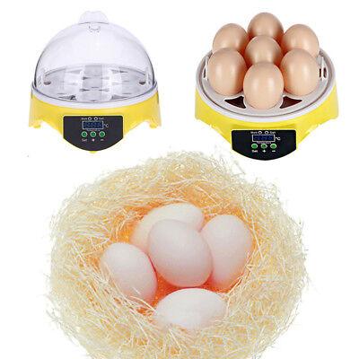 Automatic Mini Incubator 7 Egg Poultry Hatcher Digital Bird Temperature Control 3