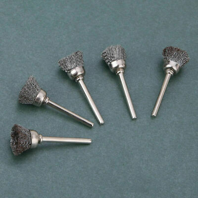10 x 3mm Rotary Steel Wire Wheel Brush Cup Tool Rust Weld Dremel Rotary Drill 6
