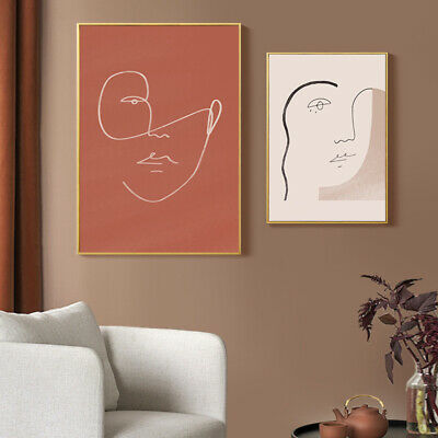 Line Drawing Woman Face Canvas Poster Abstract Art Print Modern Home Decoration 4