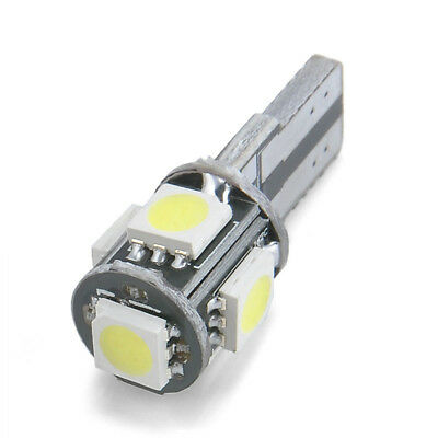 10x 6500k White Canbus Error Free Car T10 W5w 168 2825 Led5 Smd Wedge Light Bulb 6