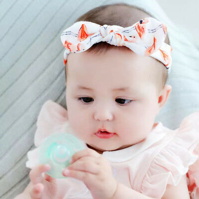 3Pcs Cotton Stretchy Knotted Ear Headbands Hair Band for Baby Girl Newborn New 2