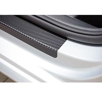 4 adesivi protettivi antigraffio fibra di carbonio per battitacco portiere auto