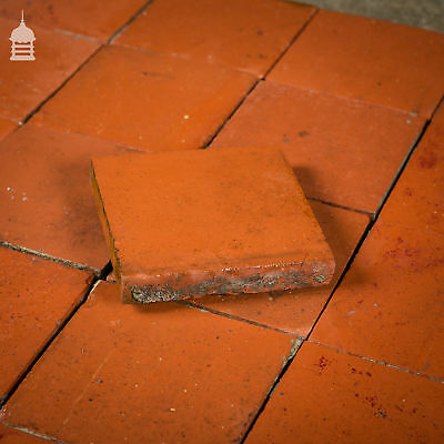 Reclaimed 6x6 Thick Red Quarry Tiles 6 Inch x 6 Inch Floor Tiles 2